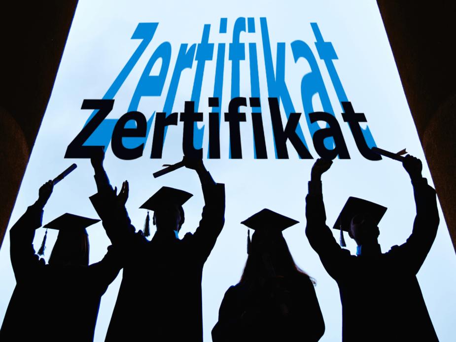 Absolventen mit Zertifikat