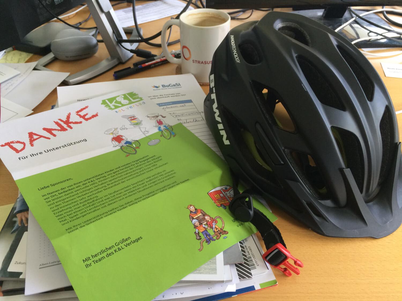Ein Dankesbrief für unseren Beitrag zum Arbeitsbuch zur Radfahrausbildung